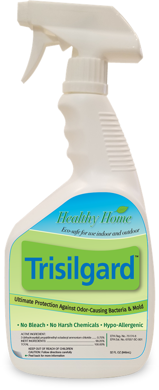 Trisilgard protects against harmful, odor-causing bacteria and mold.